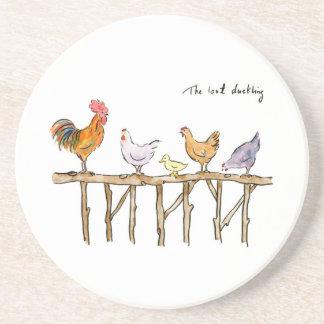 Das verlorene Entlein, die Hühner und das Entlein Getränkeuntersetzer