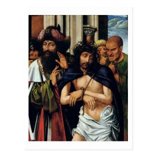 Das Verspotten von Christus (Öl auf Platte) (sehen Postkarte