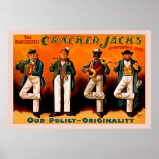 Das vier Mann-Jack-Vintage Plakat