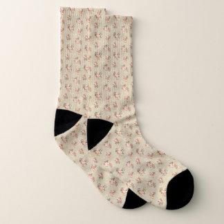 Das viktorianische Rosen-Muster, das ganz vorbei Socken