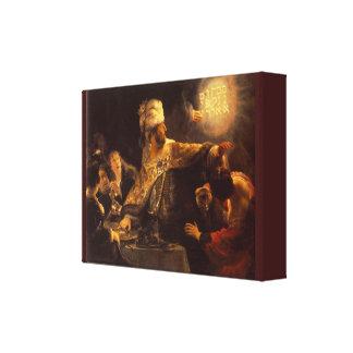 Das Vintage Fest des Belshazzars durch Rembrandt Leinwanddruck