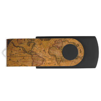 Das Vintage Geschenk alte Weltkarte USB Stick