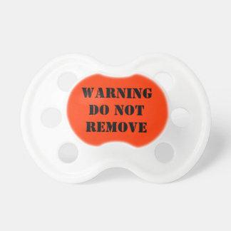 Das Warnen entfernen nicht Schnuller