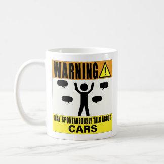 Das Warnen kann über Auto-Tasse spontan sprechen Kaffeetasse