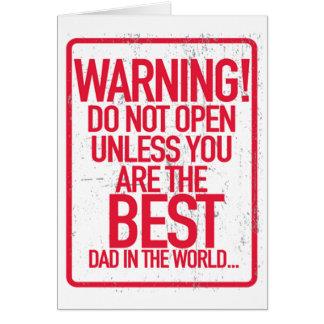 Das Warnen öffnen nicht der Vatertags-Gruß-Karten Grußkarte