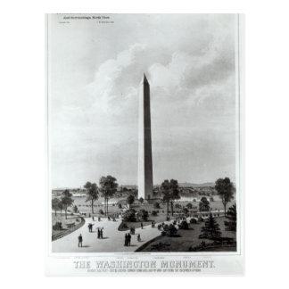 Das Washington-Monument und die Umgebungen Postkarte