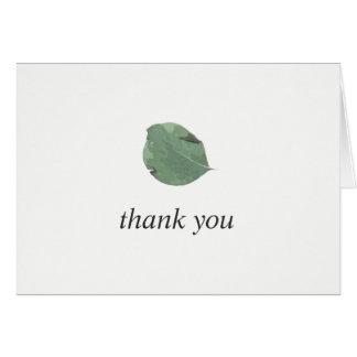 Das Watercolor-Blätter, das wedding ist, dankt Karte