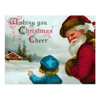 """""""Das Weisen-Zuhause-"""" Vintages Weihnachten Postkarte"""