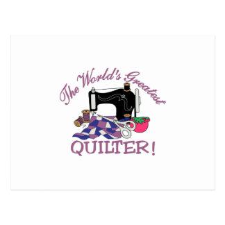 Das weltbeste Quilter Postkarte