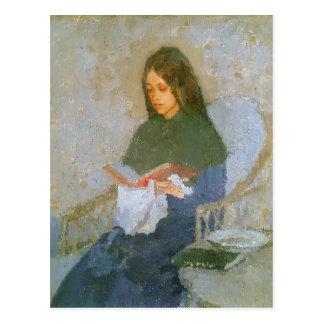 Das wertvolle Buch durch Gwen John Postkarte