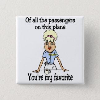 Das Willkommen des Flugbegleiters Quadratischer Button 5,1 Cm