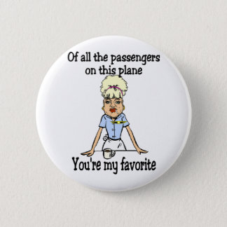 Das Willkommen des Flugbegleiters Runder Button 5,7 Cm
