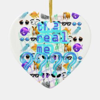 Das wirkliche ich keramik Herz-Ornament