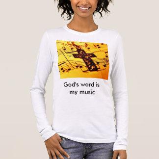 Das Wort des Gottes ist meine Musik Langarm T-Shirt
