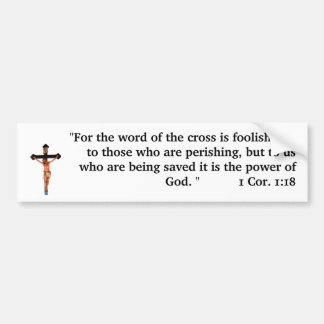Das Wort des Kreuzes Autoaufkleber