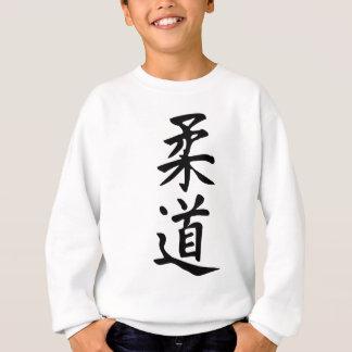 Das Wort-Judo in der Kanji-japanischen Sweatshirt