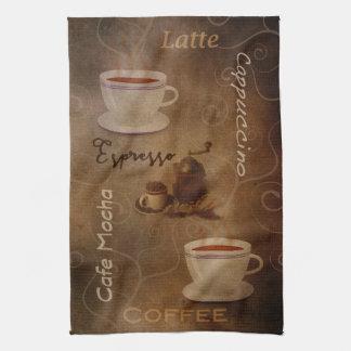 Das Wort-Kunst-Geschirrtuch des Kaffee-Liebhabers Geschirrtuch