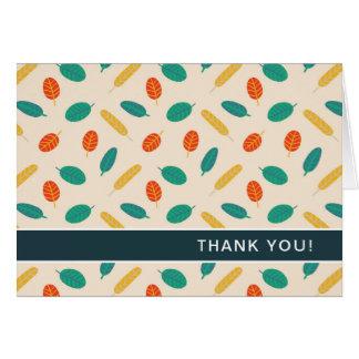 Das wunderliche gefaltete Blatt-Muster danken Mitteilungskarte