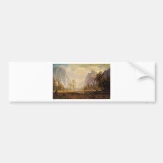 Das yosemite-Tal oben schauen - Albert Bierstadt Autoaufkleber