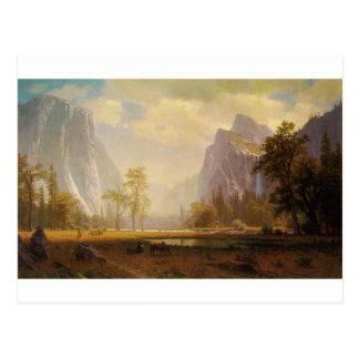 Das yosemite-Tal oben schauen - Albert Bierstadt Postkarte