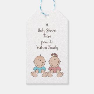 Das zwei Baby-Geschlecht decken Geschenkanhänger