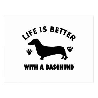daschund Hundeentwurf Postkarte