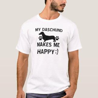 Daschund Hundeentwürfe T-Shirt