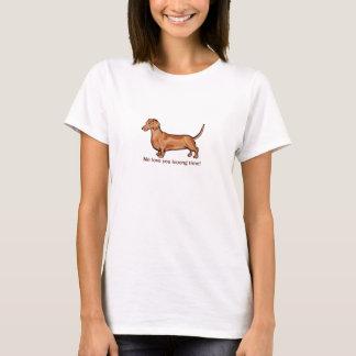 """Daschund """"ich Liebe Sie lange Zeit """" T-Shirt"""