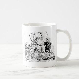 Daschund Kaffeetasse