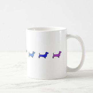 Daschund Regenbogen-Tasse Kaffeetasse