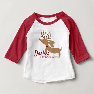 Dasher das Weindeer Dackel-WeihnachtsShirt Baby T-shirt
