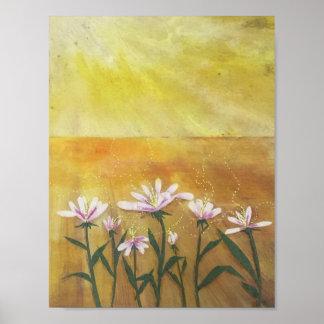 Dasies unter Sonnenschein Poster
