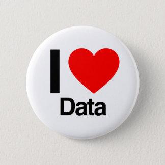 Daten der Liebe I Runder Button 5,7 Cm
