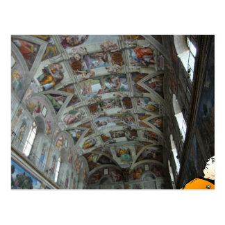 Daten in der Sistine Kapelle Postkarte