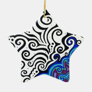 Dauerfrostboden Keramik Stern-Ornament