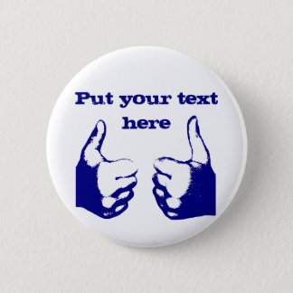Daumen oben runder button 5,1 cm