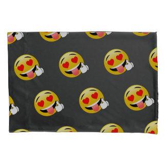 Daumen Up Liebe mit Augen Emoji Kissen-Kasten Kissenbezug