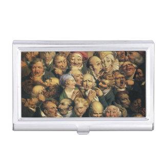 Daumiers Ausdruck-Visitenkartehalter Visitenkarten-Dose