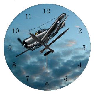 Dauntless Sturzbomber Douglas Große Wanduhr