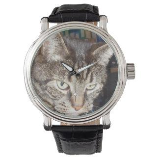 Daves, der Sie aufpasst, Vintage lederne Uhr zu