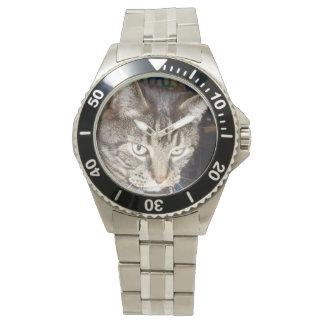 Daves, der Sie Edelstahl-Armband-Uhr aufpasst Armbanduhr
