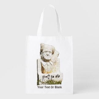 David Ben-Gurion-Denkmal Wiederverwendbare Einkaufstasche