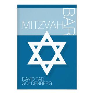 Davidsstern Bar Mitzvah personalisierte Einladung