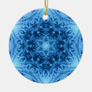 Davidsstern Schneeflocke-Verzierung Keramik Ornament