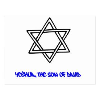Davidsstern - Yeshua, der Sohn von David Postkarte