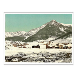 Davos, Dorfli und Seehorn, im Winter, Grisons, Swi Postkarte