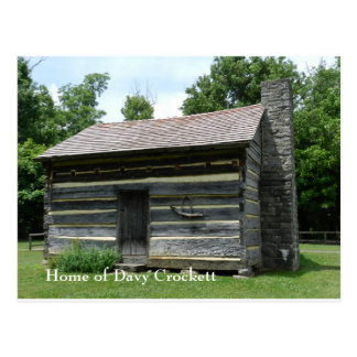 Davy Crockett Geburtsort Postkarte