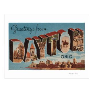 Dayton, OhioLarge Buchstabe ScenesDayton, OH- Postkarte