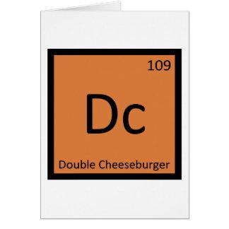 DC - Doppeltes Cheeseburger-Chemie-Symbol Karte