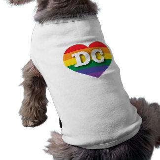 DC-Gay Pride-Regenbogen-Herz - große Liebe Ärmelfreies Hunde-Shirt